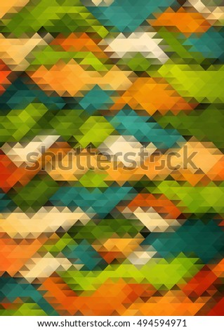 Color Abstract 2d mosaic. triangle geometric background