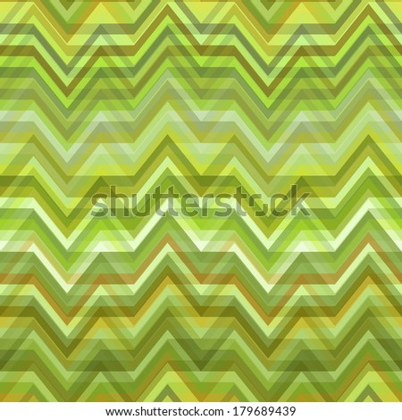 Color Abstract Retro Vector Striped Background, Fashion Zigzag Seamless Pattern of Green Stripes - stock vector