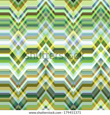 Color Abstract Retro Vector Striped Background, Fashion Zigzag Seamless Pattern of Yellow, Blue and Green Stripes - stock vector