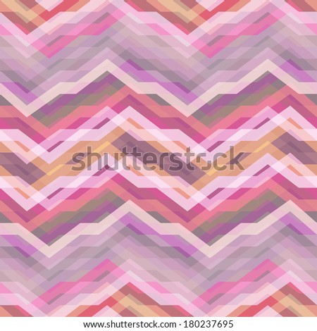Color Abstract Retro Vector Striped Background, Fashion Zigzag Seamless Patterns of Pink Stripes - stock vector