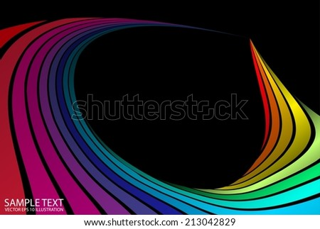 Color abstract vector curvatures background illustration - Colorful abstract vector design template illustration - stock vector
