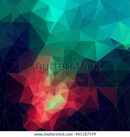 Color Abstract vector mosaic. triangle geometric background