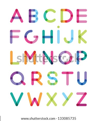 color alphabet - stock vector
