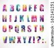 Color Alphabet, Big Set, Vector Illustration - stock vector