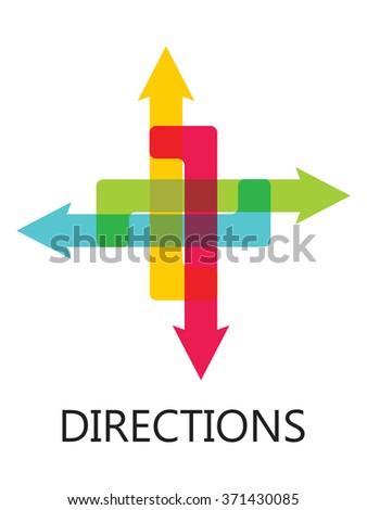 Color arrows - stock vector