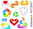 Color arrows. Set of icons on white background - stock vector
