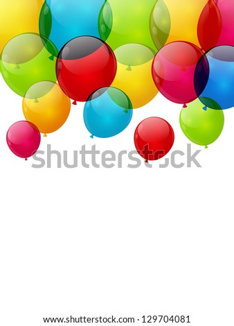 Color balloon background with place for text - stock vector