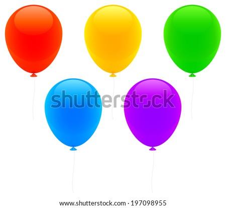 Color balloons. - stock vector