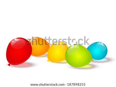 Color balloons border for Your design - stock vector