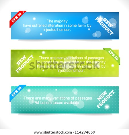 Color Banner. Abstract Design Template. Vector illustration. - stock vector
