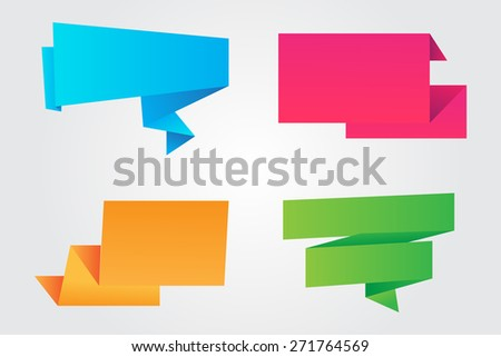Color banners set.Paper banners.Vector illustration. - stock vector