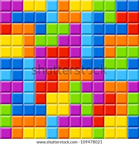 Color blocks background. Seamless vector. - stock vector