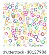 color bubbles texture in vector mode - stock vector