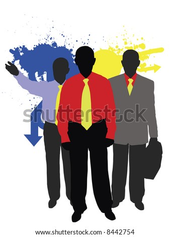 color businessmen