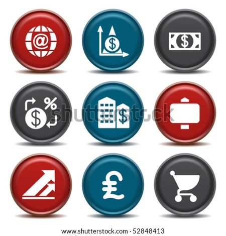Color button for internet 23 - stock vector