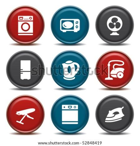 Color button for internet 18 - stock vector