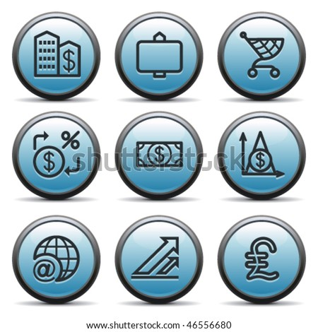 Color button with icon 23 - stock vector