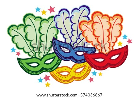 color carnival masks copy space vector stock vector hd royalty free rh shutterstock com carnival clip art free printable carnival clip art borders