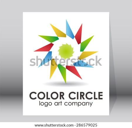 Color circle logo colorful element design art vector symbol icon shape template abstract - stock vector