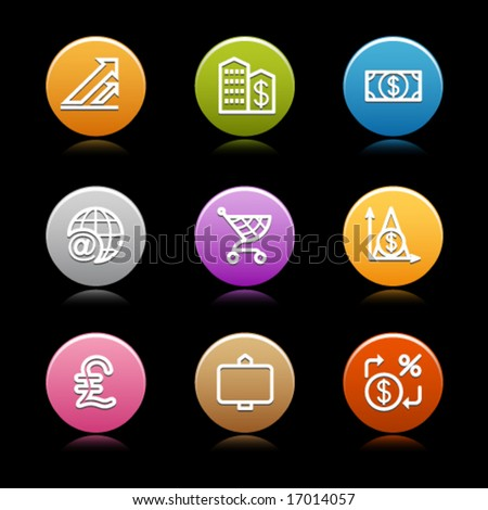 Color circle web icons, set 23 - stock vector