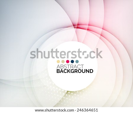Color circles composition, rings with shadows. Abstract background - stock vector