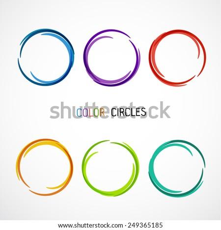 Color circles set - stock vector