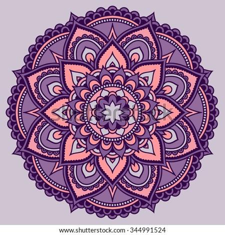 Color Circular Pattern Form Mandala Decorative Stock Photo Photo