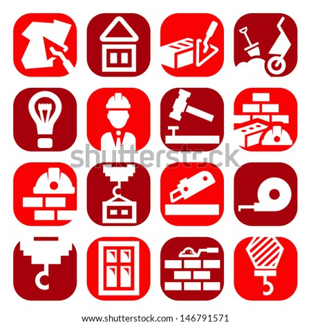 Color Construction And Repair Icons Set Created For Mobile, Web And Applications. - stock vector