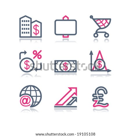 Color contour web icons, set 23 - stock vector