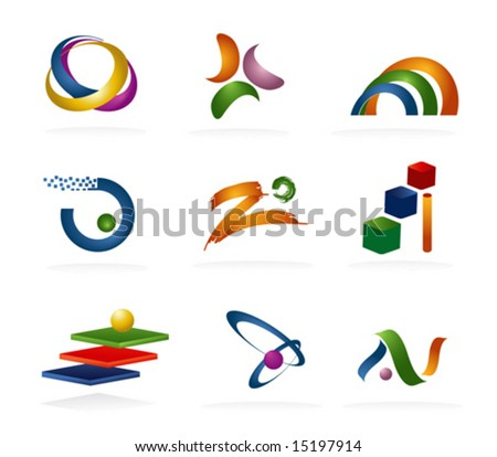 Color 3d Abstract Icons