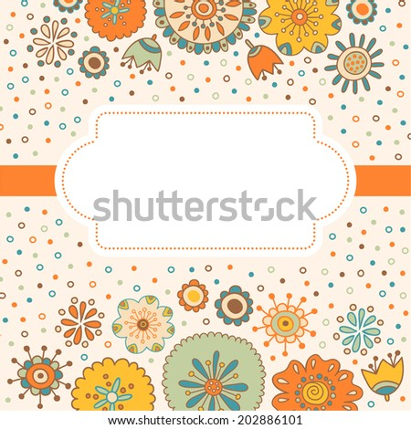 Color decorative flower background with place for text