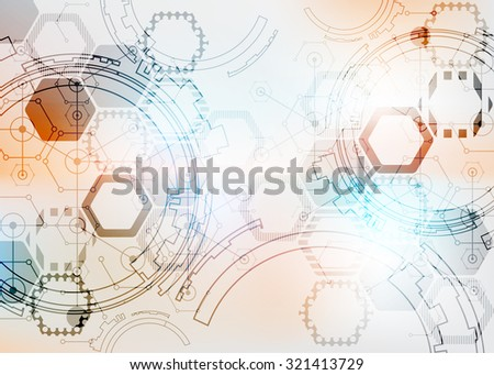 Color design layout. Abstract technology project. Vector illustration