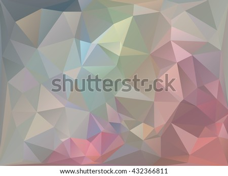 Color designed low-poly or polygonal triangular mosaic background , Vector illustration. For your several projects design in any media and concept idea. - stock vector