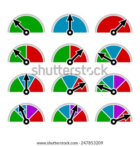 Color Diagram Set Template Design. Vector illustration - stock vector