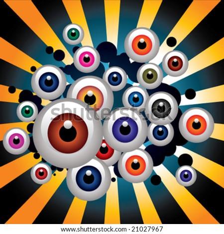 color eyes - stock vector