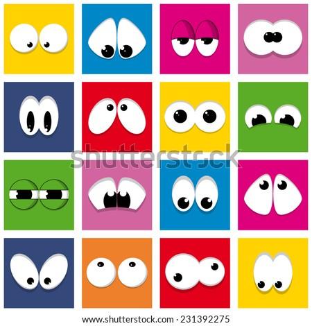 color eyes (vector) - stock vector