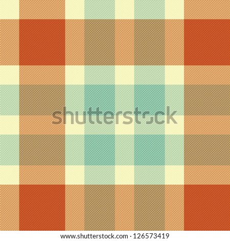 Color fabric plaid. Seamless vector illustration. - stock vector