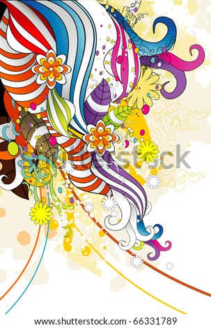 color fantasy vector ilustration