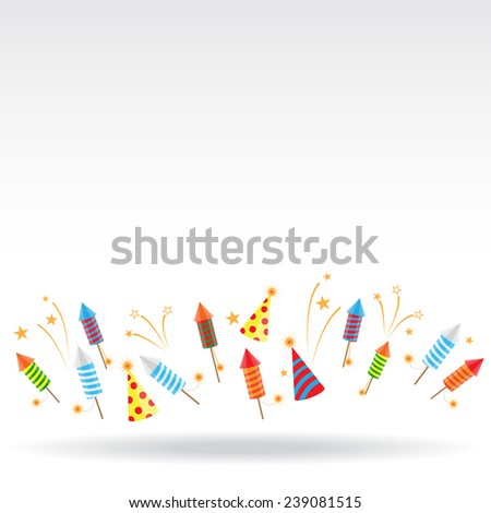 color fireworks background, can be add your text, use for greeting card, backdrop in any celebration - stock vector