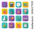 Color flat icons for Web Design and Mobile Applications. Vector illustration. - stock vector
