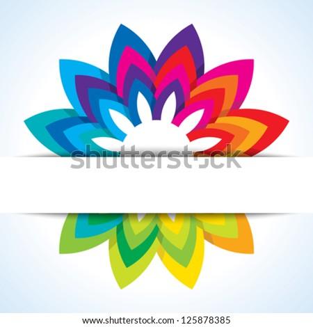 Color flower wheel background - stock vector