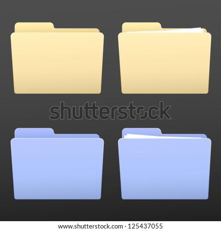color folders - stock vector