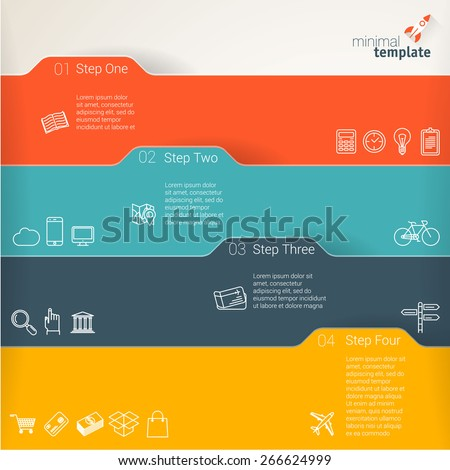 Color folders. Infographic chart vector design element set.