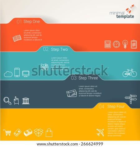Color folders. Infographic chart vector design element set. - stock vector