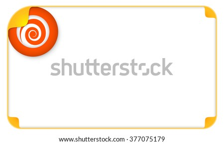Color frame for your text and a spiral - stock vector