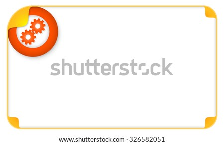 Color frame for your text and cogwheels - stock vector