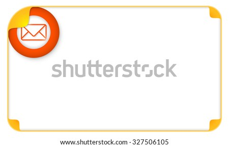 Color frame for your text and envelope - stock vector