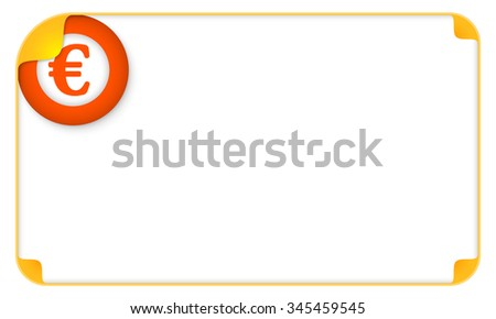 Color frame for your text and euro symbol - stock vector