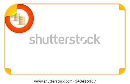 Color frame for your text and golden coins - stock vector