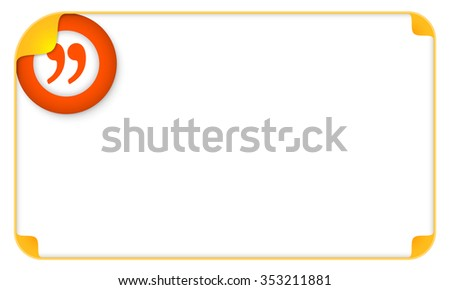 Color frame for your text and quotation mark - stock vector